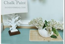 Paint techniques - Chalk paints / Paint gives a Whole new Image and a Specific energy to Rooms and Objects and the environment comes Alive