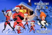 The Incredibles Christmas Card / Family Photo Portrait Christmas cards, Photoshopped Christmas cards, Unique family Christmas cards. You supply the photos and I will expertly drop them onto the characters.