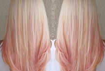 Hair pink ombre