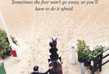 Quotes for Equestrians / Meaningful horse quotes to keep equestrians inspired to get to the barn and keep riding (even when things get tough).