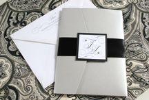 Etsy Designs :: Black / Black inspired weddings and invitations.