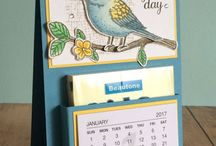 Stampin' Up! - Mini Calendar Projects / Mini calendar (calendar tab) projects using Stampin' Up! products.