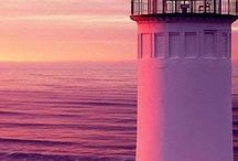 pink lighthouses