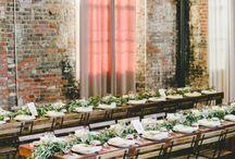 Indoor rustic weddings