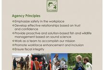 About Us / Mission  To protect and enhance Oregon's fish and wildlife and their habitats for use and enjoyment by present and future generations.  Agency Principles -  - Emphasize safety in the workplace  - Develop effective relationships based on trust and confidence  - Provide proactive and solution-based fish and wildlife management based on sound science  - Work as a team to accomplish our mission  - Promote workforce enhancement and inclusion  - Ensure fiscal integrity
