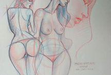 female body drawings