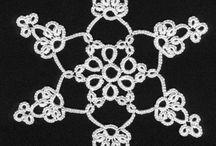 Tatting Snowflakes-Νιφάδες Χιονιού