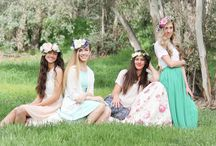 Spring Look Book / Featuring custom, one of a kind silk flower crowns made by Her Crowning Glory. Shop the Etsy site at https://www.etsy.com/shop/HerCrowningGloryShop