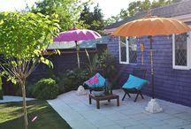 Love a colourful parasol / Sun is out, lets pop up a colourful parasol.