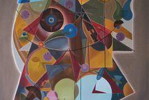Art, Design by David Kounovsky / Art, paintings, geometry , sculpture, lamp, oilpaintings, fineart,
