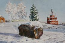 Акварельные уголки России от Кирьяновой Виктории / Old Russian Towns, their provincial beauty