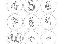 plantilla números para sumar