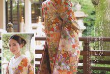 Alternative wedding dresses in ORANGE and PEACH