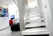 Creative Indoor Stairs design with Lights