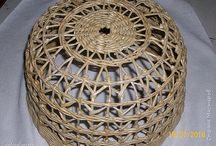 абажуры плетеные