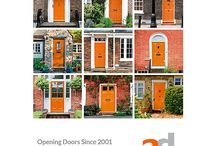 Front Doors / Different styles of front doors which our graphic designers can change the colours to match your business branding which make for popular flyers,  leaflets and postcards for real estate marketing