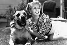 Dogs with their famous owners
