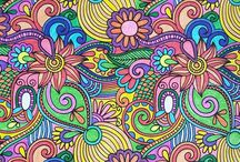 Finished coloring pages for adults.