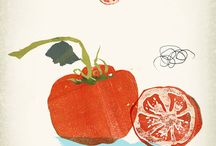 food and flora illustrations