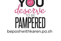 Be Perfectly Posh with me! / I recently became a consultant for one of my favorite lines of products--Perfectly Posh. If you are interested in learning more about Posh or want a sample, please let me know! You don't have to have a party, unless you want to (they are pretty fun and you don't have to make a fruit punch to have one!) We have them as a Facebook event, so you can come in your pajamas if you like!