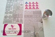 Manicura con placa GPStamping #7 de Nails Station España / Nail Art,Manicuras