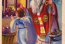 Kerstkind / Het Christkind heeft een interessante ontstaansgeschiedenis. Het schijnt dat kerkhervormer Maarten Luther deze traditie in Duitsland heeft geïntroduceerd met als doel Christus weer centraal te stellen in de kerstperiode in plaats van de katholieke St-Nicolaas. Het Christkind was dus oorspronkelijk wel bedoeld als de personificatie van Christus, maar niet als pasgeboren kind. Zijn protestantse achtergrond is inmiddels grotendeels vergeten. Het Christkind is nu juist populair in katholieke regio's