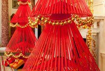 arbol navideño rojo