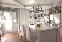 Cocina en Guecho / #reforma #arquitectura #diseño #interiorismo #3D #infografias #previsualización3D  #Gumuzio&PRADA
