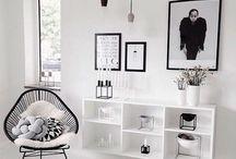 Preto e branco na decoração
