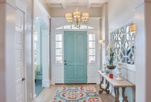 HOME: FOYERS & HALLWAYS / Home decorating inspiration specific to foyers, or entries, and hallways