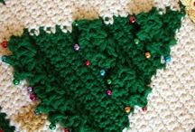 Kerstboom pannenlap / Potholder