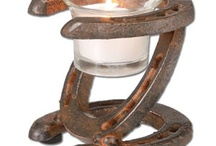 Horse shoe candles