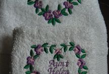 Embroidery / A selection of items available for sale on our online marketplace to do with embroidered gifts