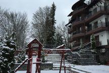 Superba terasa a lui Hotel Royal din Poiana Brasov / Superbe peisaje de iarna