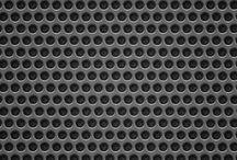 Perforated metal texture