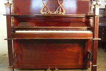 Art Nouveau Pianos / Pianos with Art Nouveau Style Cabinets