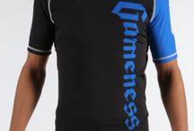 Gameness Blue Short-Sleeve Pro Rank Rash Guard / The Gameness Logo Rash Guard features comfortable and strong flat lock stitching, dyed-into-the-fiber graphics that will never peel or fade, and moisture wicking fabric.