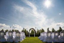 """Свадьба в """"Летнем дворце"""" / Яркое,летнее оформление выездной регистрации и самого шатра)"""