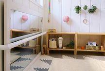 Dětský pokoj, koupelna, předsíň, ... / montessori