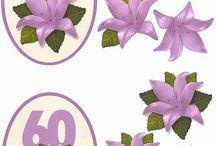 3D Blomster med års tal