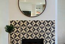 Fab Fireplaces! / We love fireplaces. And as we enter Autumn, with Winter not far behind...it's time to turn our thoughts to cosy rooms! Tiles can really make a fireplace!