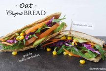 Oat Chapati Bread / This OAt Chapati Flat Bread is so easy and quick to prepare...Perfect for our healthy sandwiches... Vegan, Gluten-free, Oil-free, Sugar-free, Soy-free, Nut-free
