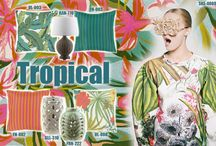 Tropical / Get warm weather ready with Spring's tropical print trend! Surya offers a variety of outdoor safe accessories in bright colors and tropical patterns that let you take an exotic journey without leaving your backyard. / by Surya