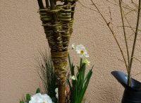 Weidenflechtarbeiten / Zweige der Kopfweide bündeln, flechten und verarbeiten