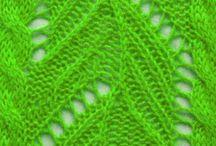 pletené vzory krajkové