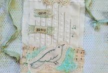 Prayer Flags / home made prayer flags / by Betty Pillsbury