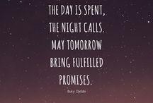 Goodnight / Inspirational quotes & prayers.