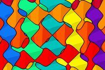 Efecto óptico / Dibujos que parece que se mueven por un efecto óptico.