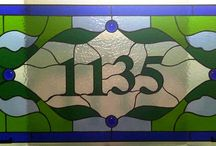 Steined glass numbers