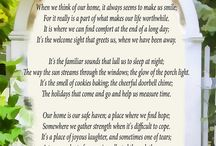 "Home and Housewarming Gift / ""Our Home"". This beautiful poetry print is a must have for every home that is filled with love. The touching poem describes those lovely intangibles that turn a house into a home.  / by PoetryPrints.com"